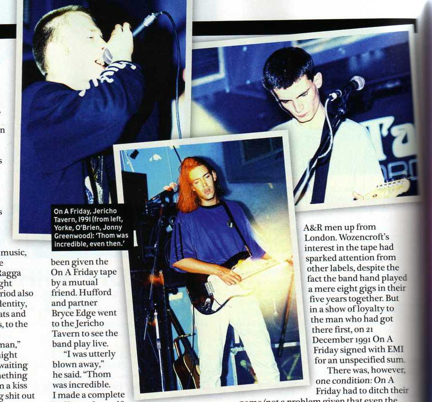 quelques photos prises lors d'un concert de 1991 à la Jericho Tavern dans un article de presse