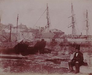 Harbour Scene, c.1845 Calvert Richard Jones, 1804 - 1877 Salted paper print from calotype negative