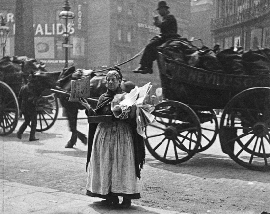 Magazine seller at Ludgate Circus, 1893, London, by Paul Martin