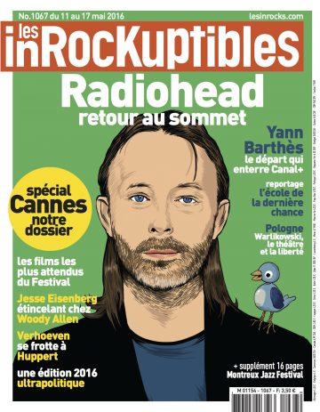 Couverture des Inrocks (11-17 mai 2016) - illustration de Stéphane Manel